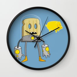 Space Toast Wall Clock