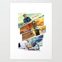 gta Art Prints featuring Breaking Bad mashup GTA V  by Akyanyme