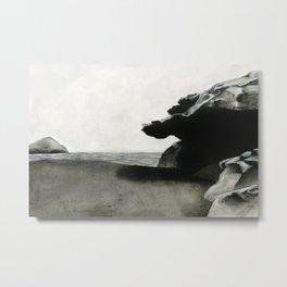 Los Escullos - Nijar. Watercolor Metal Print