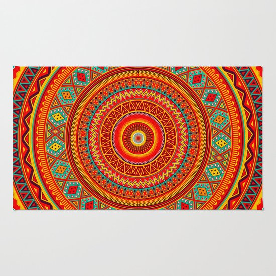 Mandala Aztec Pattern Rug