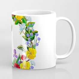 A Wreath of Wildflowers from the South Coffee Mug