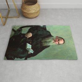 Portrait of Leo Tolstoy by Ilya Repin Rug