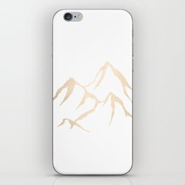 Adventure White Gold Mountains iPhone Skin