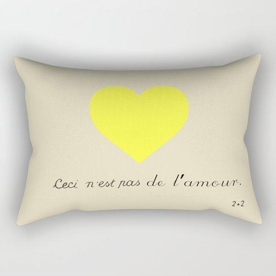 CECI N'EST PAS DE L'AMOUR Rectangular Pillow