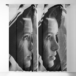 NASA Astronaut, Anna Fisher, black and white photograph Blackout Curtain