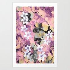 Lucky clover pink Art Print
