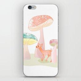 Mushrooms trees iPhone Skin