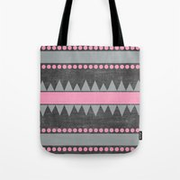 aztec Tote Bags featuring Aztec by her art