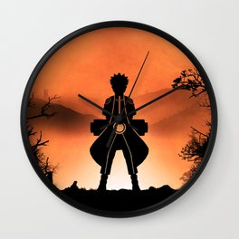 Naruto - Nine Tails Chakra Mode Wall Clock