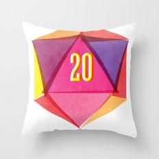 Rolling D20's Like A Big Shot  Throw Pillow