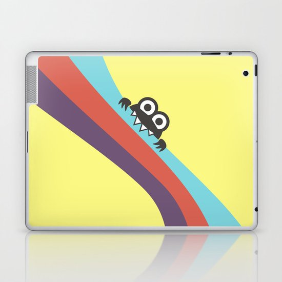 Funny Bug Bites Candy Colored Stripes Laptop & iPad Skin