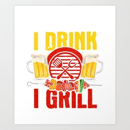 Funny Grilling Gifts Art Print