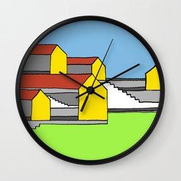 White Stairs Wall Clock