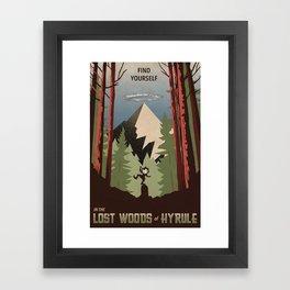 Legend of Zelda- Find Yourself in the Lost Woods Framed Art Print
