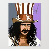 zappa Canvas Prints featuring Zappa by Saundra Myles