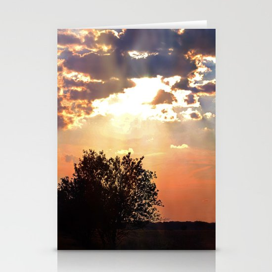 Evening sun in the Dutch countryside Stationery Cards