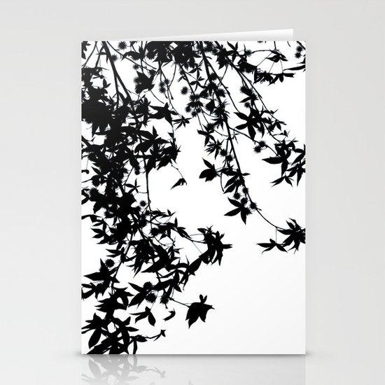 black on white Stationery Cards
