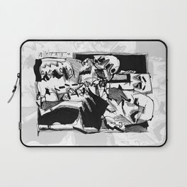 Chapter One: Never Talk with Strangers - b&w Laptop Sleeve
