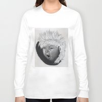 asian Long Sleeve T-shirts featuring asian child by Caterina Zamai