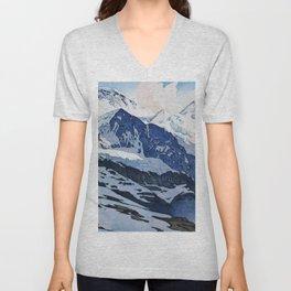 Yoshida Hiroshi - The Jungfrau Mountain - Digital Remastered Edition Unisex V-Neck