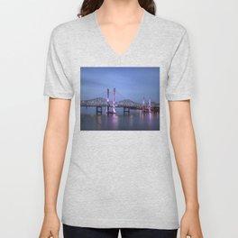 Lincoln Bridge Louisville, KY Unisex V-Neck