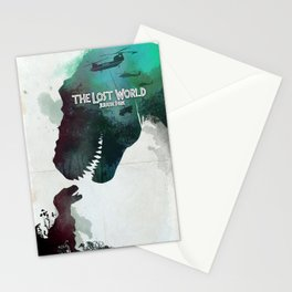 Inspired movie poster. The Lost World: Jurassic Park (1997) Stationery Cards