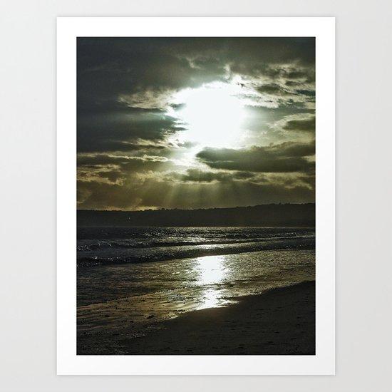 Sunrays. Art Print