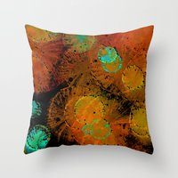 fireworks Throw Pillows featuring Fireworks by Imagology