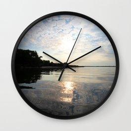 Watercolor Sunset, Janes Island 15, Maryland Wall Clock