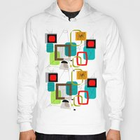 mid century Hoodies featuring Mid-Century Modern Inspired Abstract by Kippygirl