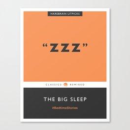ZZZ - The Big Sleep (Orange) Canvas Print