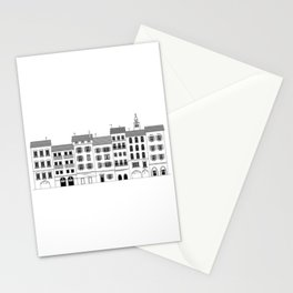 Italian city drawing Stationery Cards