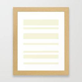 Mixed Horizontal Stripes - White and Beige Framed Art Print