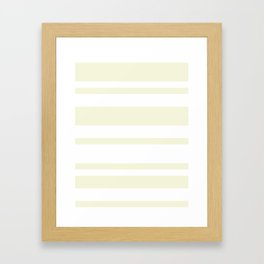 Mixed Horizontal Stripes - White and Beige Framed Art Print