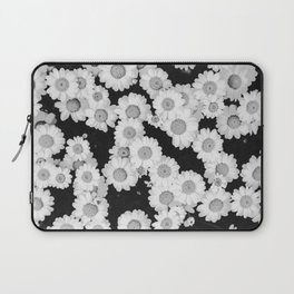 The Daisy Garden (Black and White) Laptop Sleeve