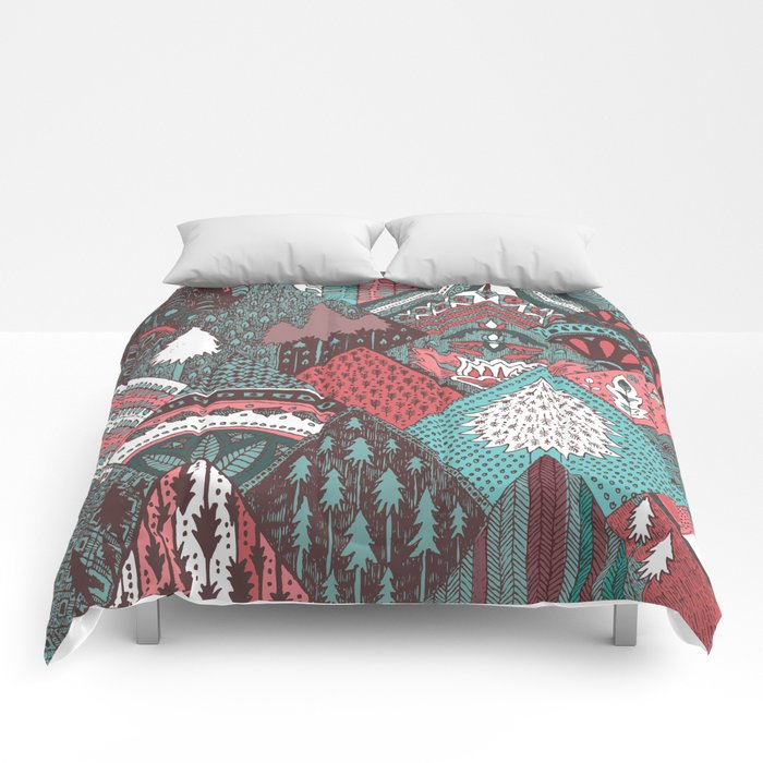 Red mountains Comforters