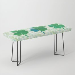 Lucky Watercolor Clovers Bench