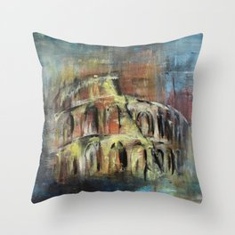 Abstract Rome Throw Pillow