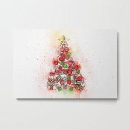 O'Christmas Tree of Lights Metal Print