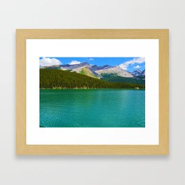 Maligne Lake in Jasper National Park, Canada Framed Art Print