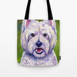 Colorful West Highland White Terrier Dog Tote Bag