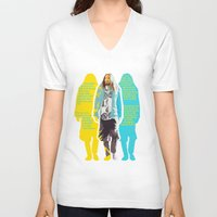 jared leto V-neck T-shirts featuring Jared Leto and his wisdom  by Olga Panteleyeva