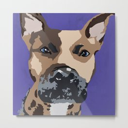 Prince on purple Metal Print
