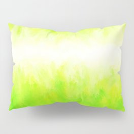 Neon Lemon Lime Abstract Pillow Sham