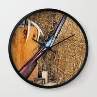 winchester Wall Clocks featuring Winchester Rifle by Captive Images Photography