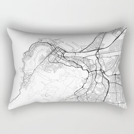 Cape Town Map White Rectangular Pillow