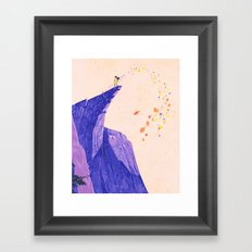 just around the riverbend... Framed Art Print