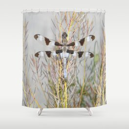 dragonfly tank Shower Curtain