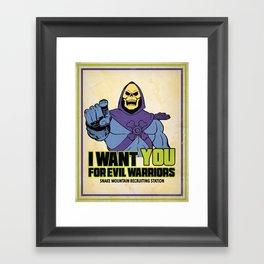 Skeletor - We want you for evil warriors Framed Art Print