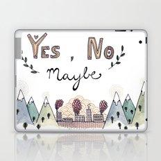 Yes, No, Maybe Laptop & iPad Skin
